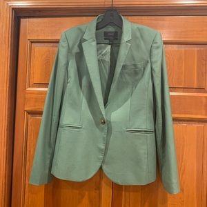 Italian 120s summer wool green suit jacket